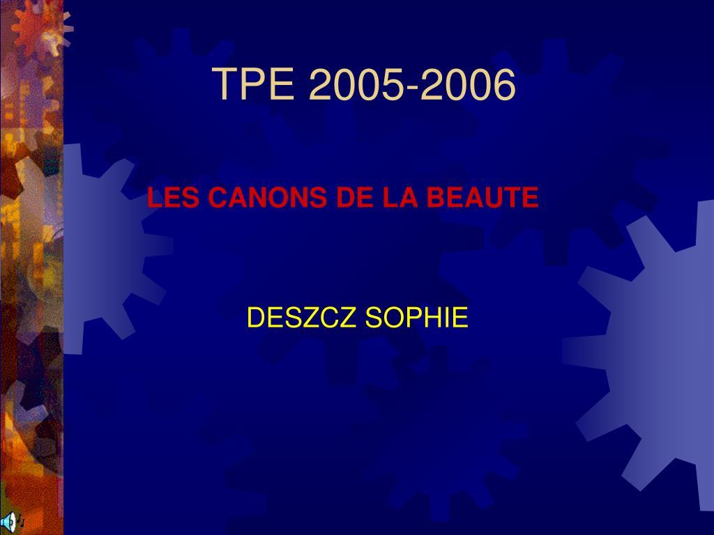 tpe 2005 2006 l.