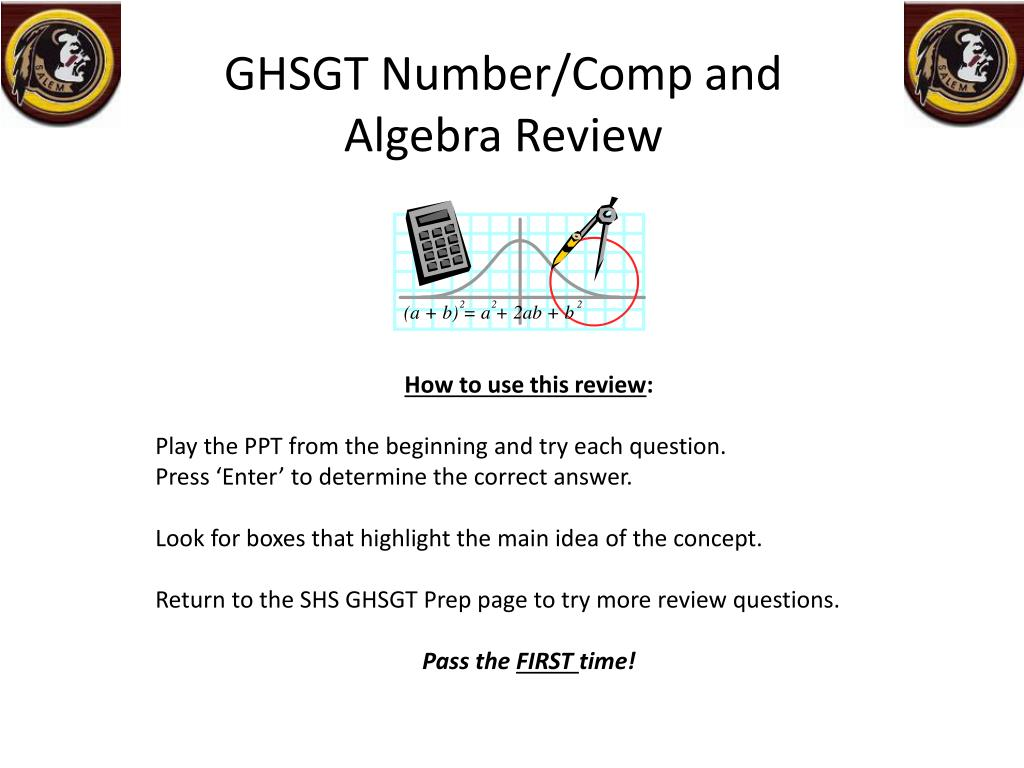 ghsgt number comp and algebra review l.
