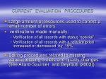 current evaluation procedures
