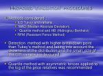 proposed evaluation procedures5