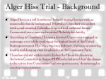 alger hiss trial background