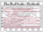 the red scare hysteria