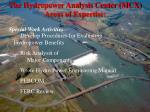 the hydropower analysis center mcx areas of expertise10