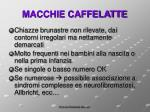 macchie caffelatte