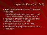 hayreddin pa a m 1546