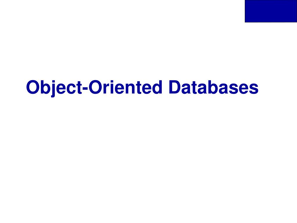 object oriented databases l.