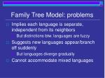 family tree model problems