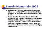 lincoln memorial 192221