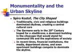 monumentality and the urban skyline