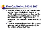 the capitol 1793 1807