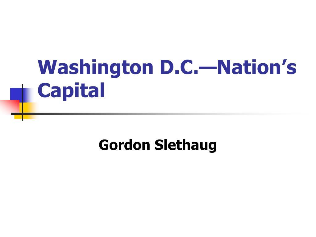 washington d c nation s capital l.