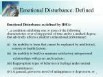 emotional disturbance defined