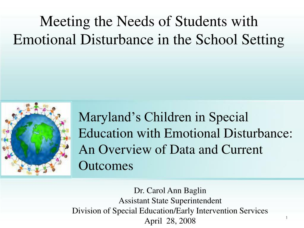 meeting the needs of students with emotional disturbance in the school setting l.