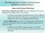 the maryland early childhood mental health ecmh consultation project46
