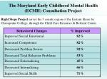 the maryland early childhood mental health ecmh consultation project49