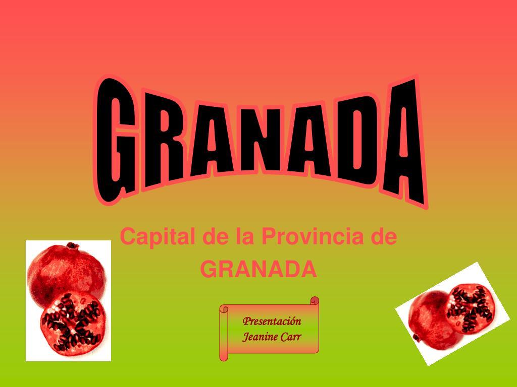 capital de la provincia de granada l.