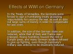 effects of wwi on germany