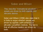 sober and wilson