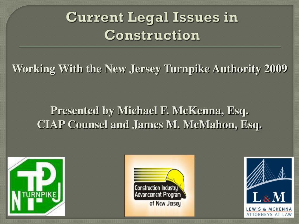 current legal issues in construction l.
