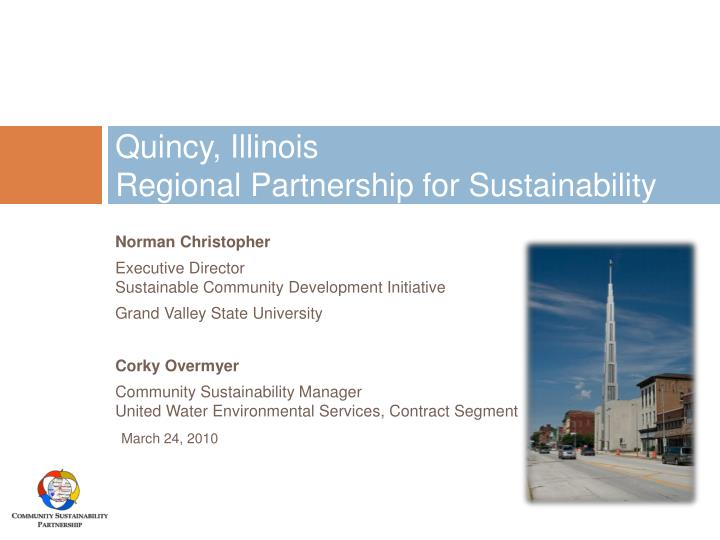 quincy illinois regional partnership for sustainability n.