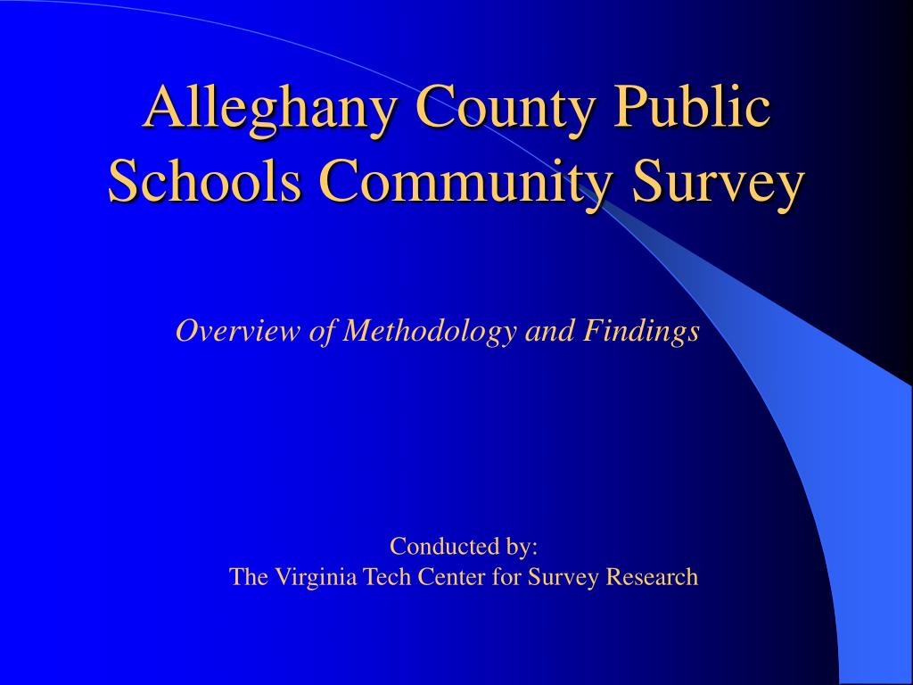 alleghany county public schools community survey l.