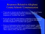 responses related to alleghany county schools communication
