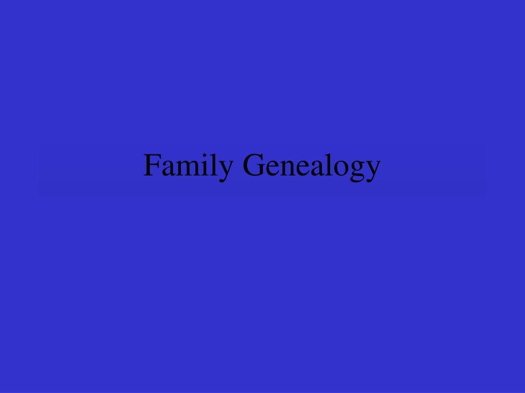 family genealogy l.