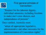 first general principle of convention