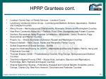 hprp grantees cont