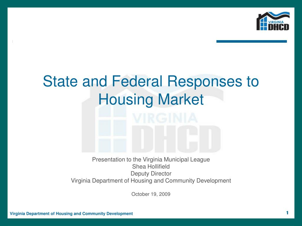 state and federal responses to housing market l.
