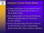 allegheny county moves ahead