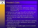 provider s costs