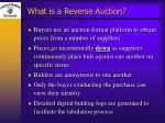 what is a reverse auction