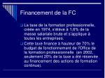 financement de la fc