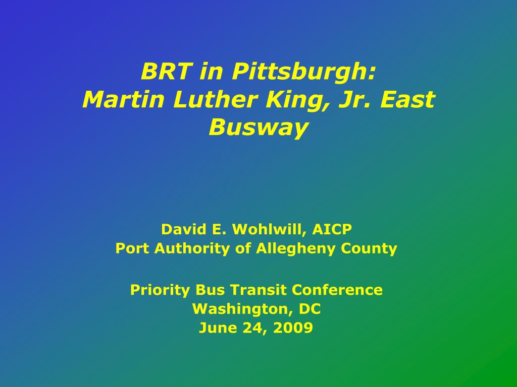 brt in pittsburgh martin luther king jr east busway l.
