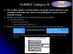 humies category b
