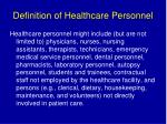 definition of healthcare personnel