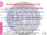 broadcasting in random networks 6