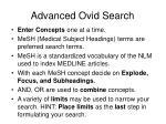 advanced ovid search