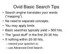 ovid basic search tips