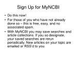sign up for myncbi