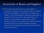 interactivity of buyers and suppliers