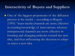 interactivity of buyers and suppliers37