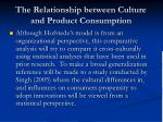 the relationship between culture and product consumption
