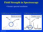 field strength in spectroscopy