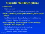 magnetic shielding options