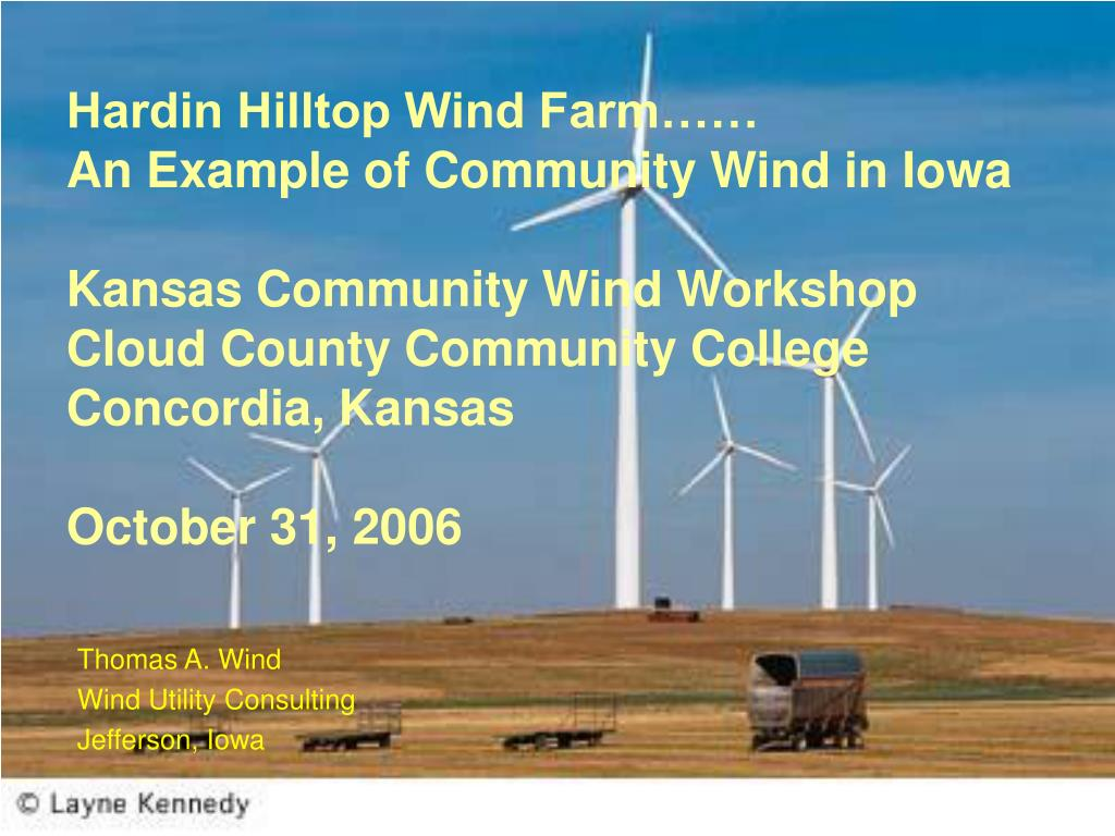 thomas a wind wind utility consulting jefferson iowa l.