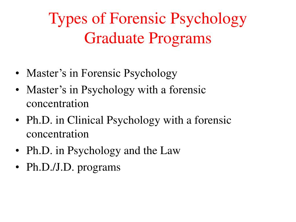 Forensic Psychology Graduate Programs >> Ppt Introduction To Forensic Psychology Powerpoint
