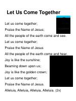 let us come together