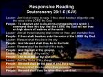 responsive reading deuteronomy 28 1 6 kjv
